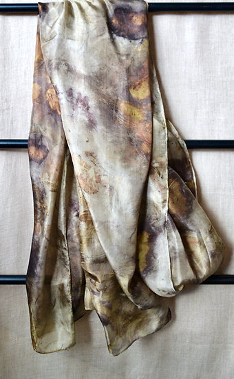 Forest Silk Scarf Colour Iron