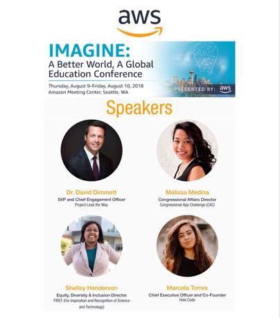 2018 Amazon Web Services (AWS) IMAGINE Conference (Speaker)