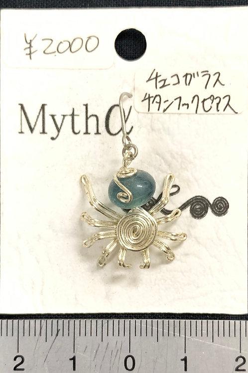 ティーダ・ミサ/チタンフックピアス02(チェコガラス)