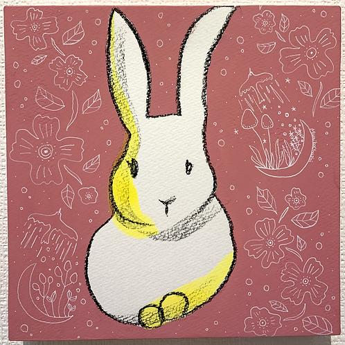 大橋マミ子 作「幸せを運ぶもの-ウサギ-」
