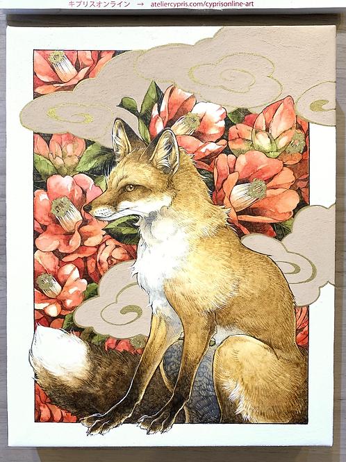 シキトリ 作「椿と狐」