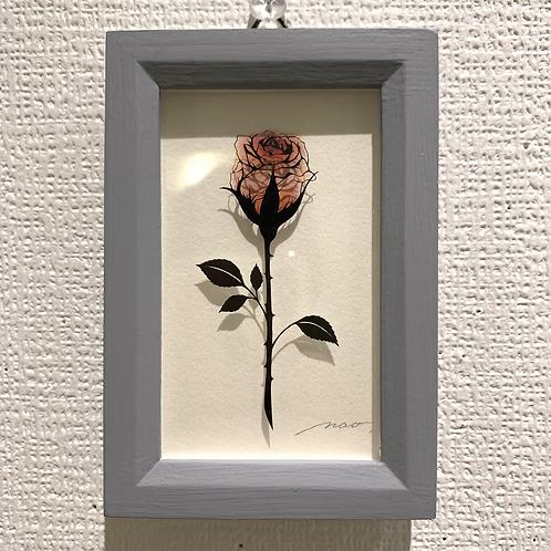 南壮 作「ミニ薔薇 赤」