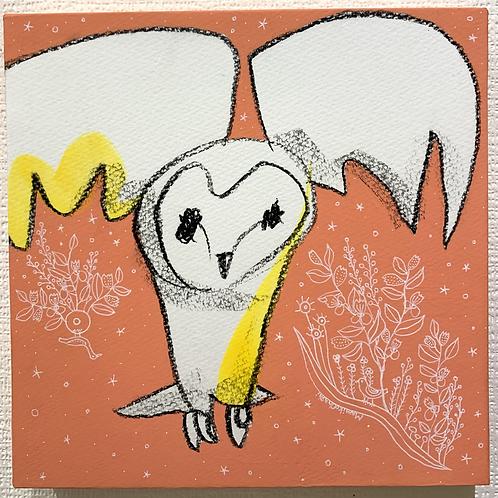 大橋マミ子 作「幸せを運ぶもの-フクロウ-」