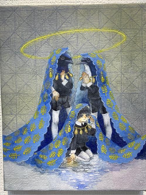 チヨト 作「アオイトリの聖人」