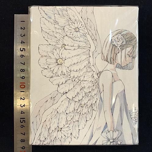 とあるお茶「キャンバスプリント/お花の天使」F0号