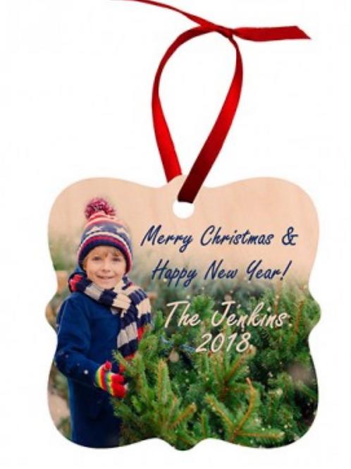 Wood Ornament  3x3