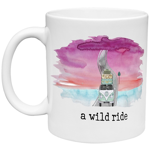 A Wild Ride - Water Color Right Handed Mug