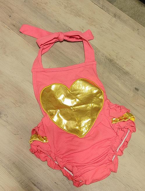 Golden heart romper