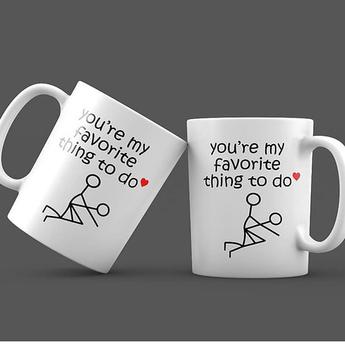 You're my favorite thing to do (Set of 2)