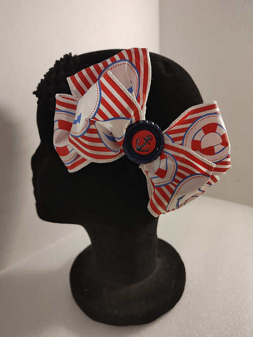 Nautical 5 inch bow with alligator clip
