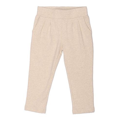 Soft, Cotton Baby and Toddler Girl Leggings - Ecru