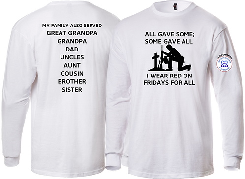 ENVISION SUCCESS  - All Gave Some, Some Gave All Long Sleeve