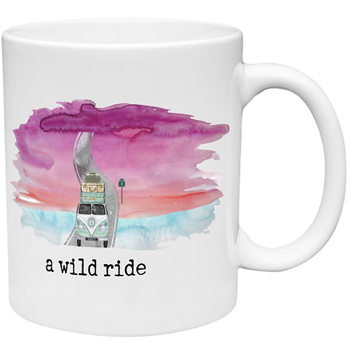 A Wild Ride - Water Color Left Handed Mug