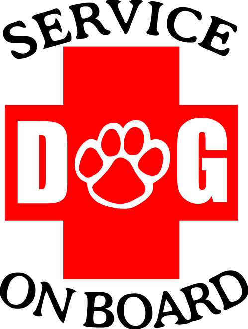 Service Dog Red Plus Sign