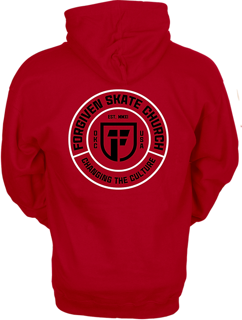 FORGIVEN SKATE - ROUND LOGO HOODIE (BLANK FRONT)