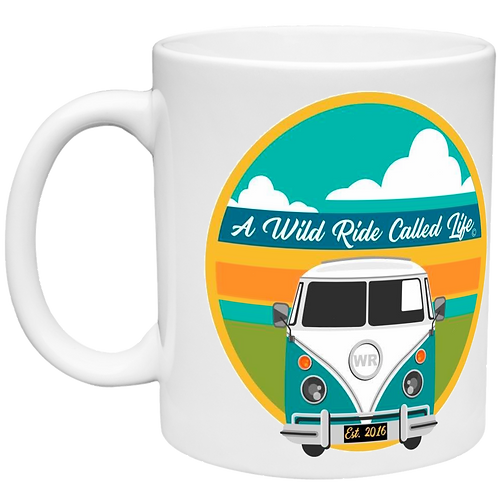 A Wild Ride - Bus Sunset Right Handed Mug