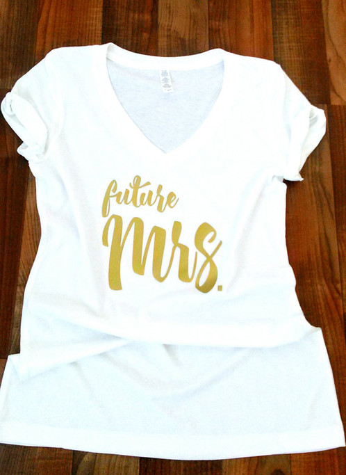 Mrs Future Shirt Just Married Fiance
