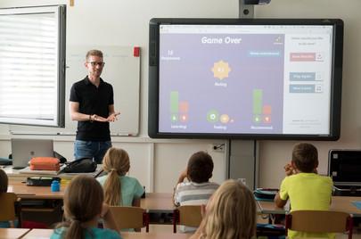 Präsentieren vor einer Klasse