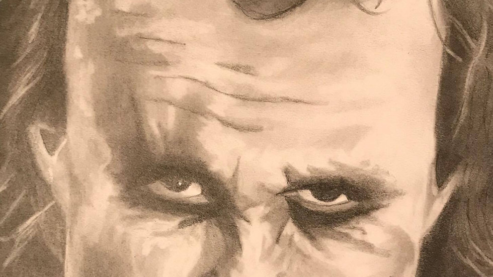 """Joker"" Heath Ledger Drawing"