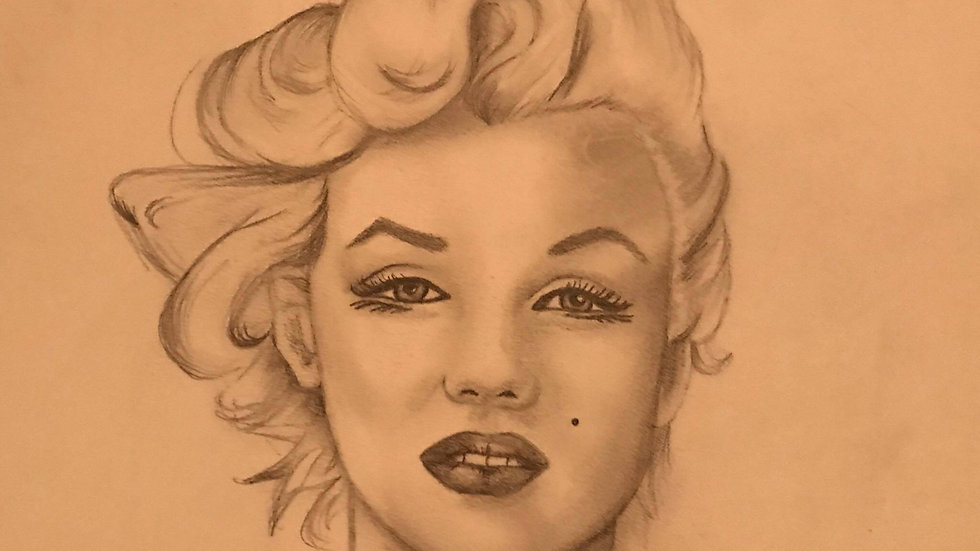 Marilyn Monroe Painting - Hair swept to the side