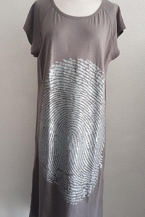 Dress with Print BLACK