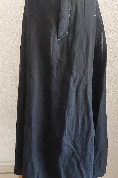 Skirt long, linen