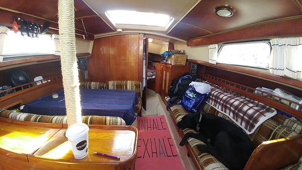 Interior cabin of 1980 Newport 30 MKII sailboat