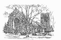 church pencil sketch