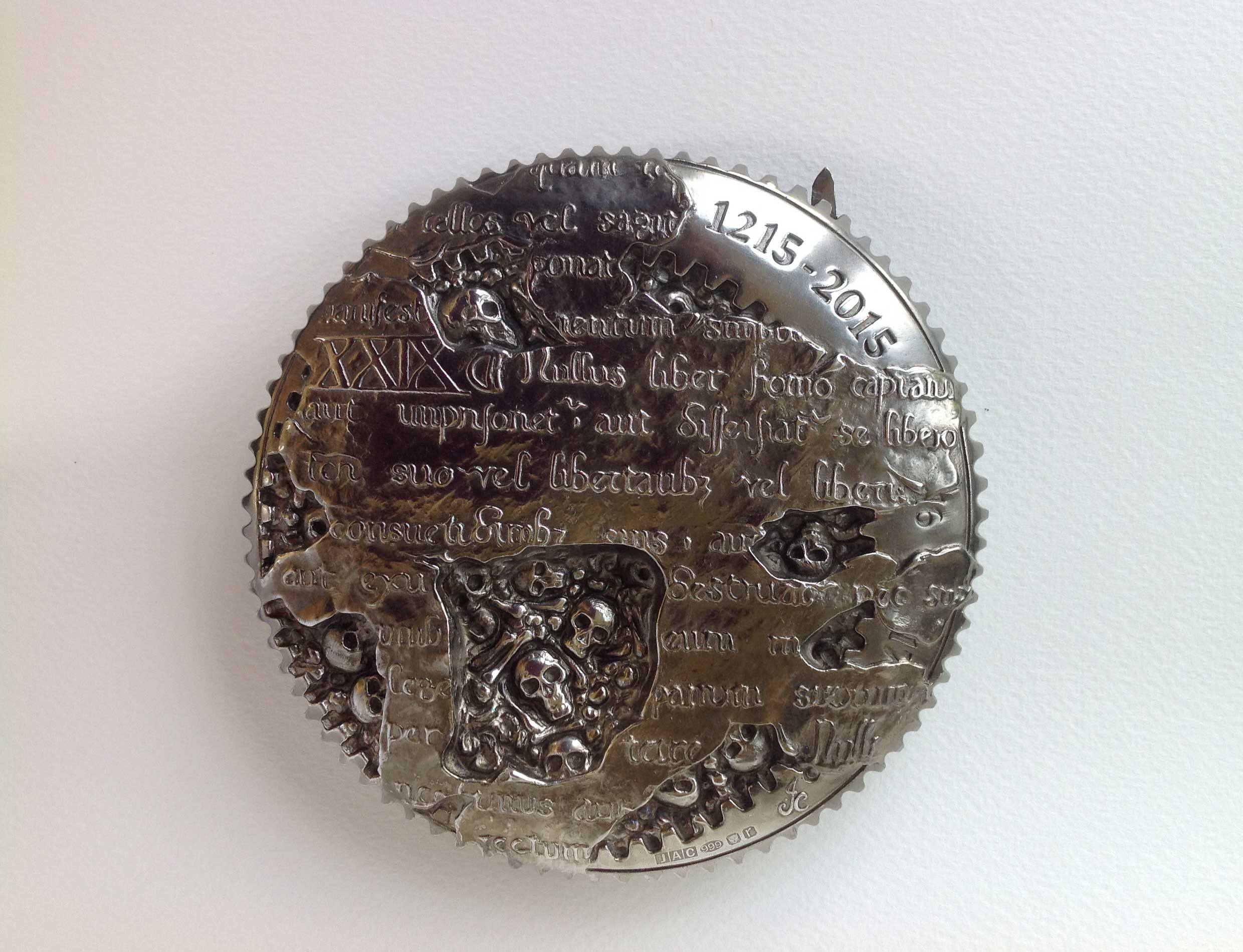 The Magna Carta Medal 2015 obverse