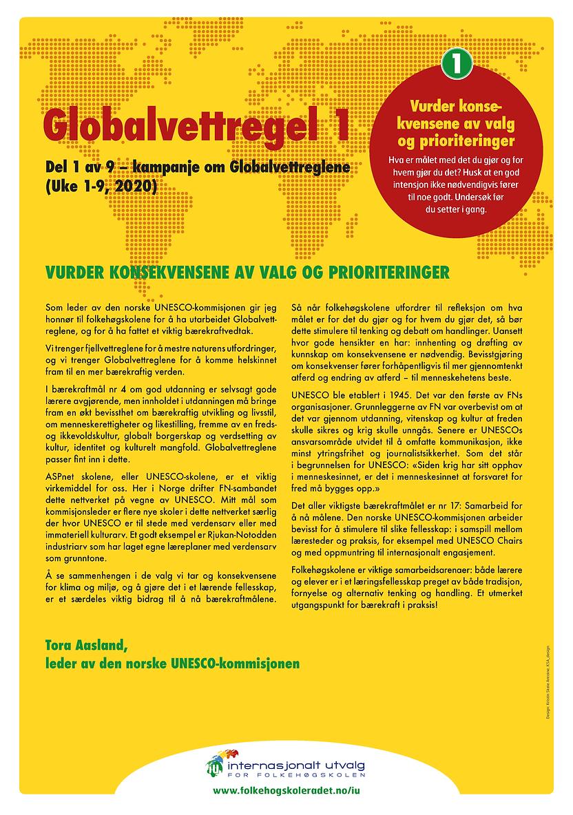 Globalvettregel 1 - skrevet av Tora Aasl