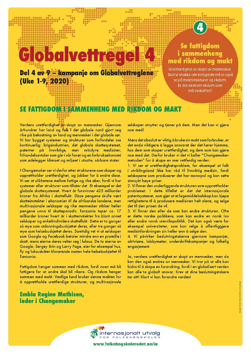 Globalvettregel 4 - skrevet av Embla Reg