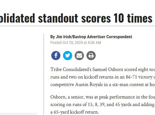 Tribe Consolidated standout scores 10 times in win