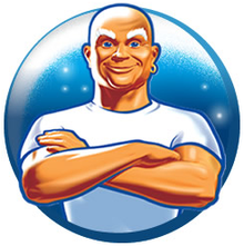 Working out with Mr Clean