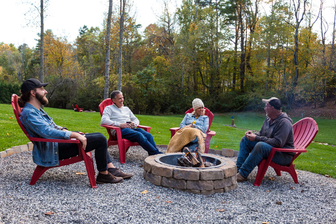 4 firepits all around our property