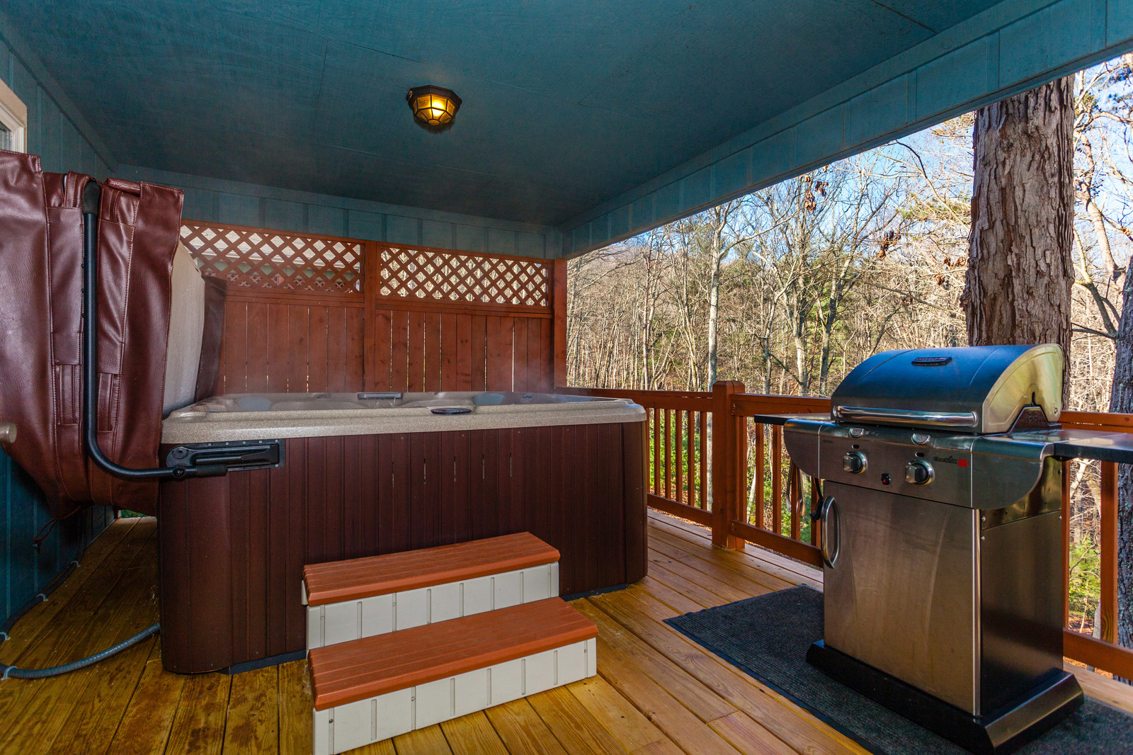 Deck Of Our Asheville Cabin Rentals