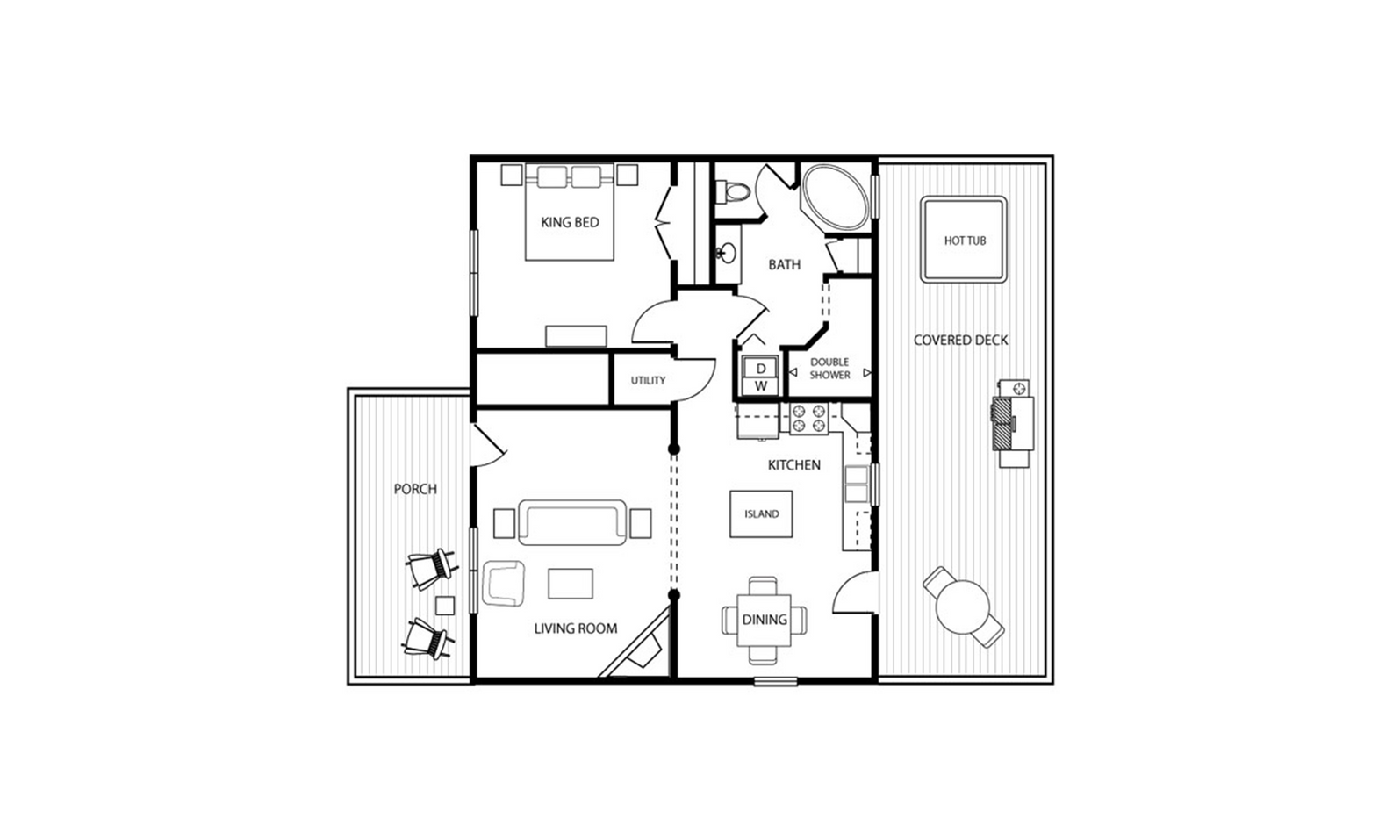 The floor plan of the Cedar