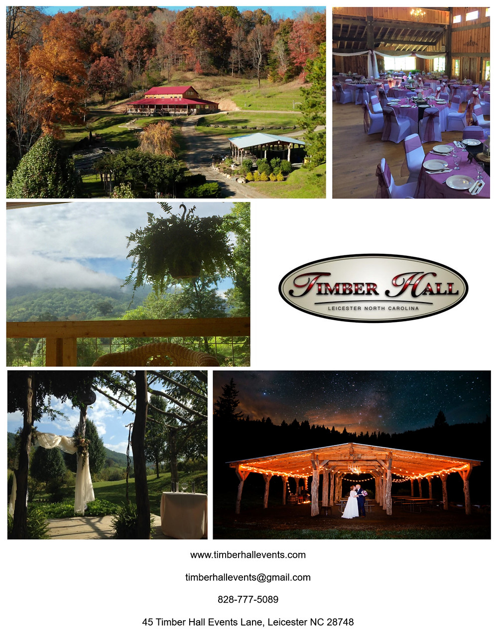 An event center not far from our vacation rentals in Asheville