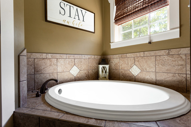 Large two person garden tub