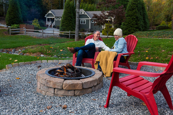 All firepits are located near our cottages