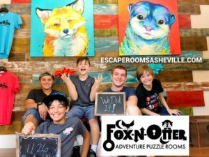 The Fox and Otter. A great Escape Room in Asheville