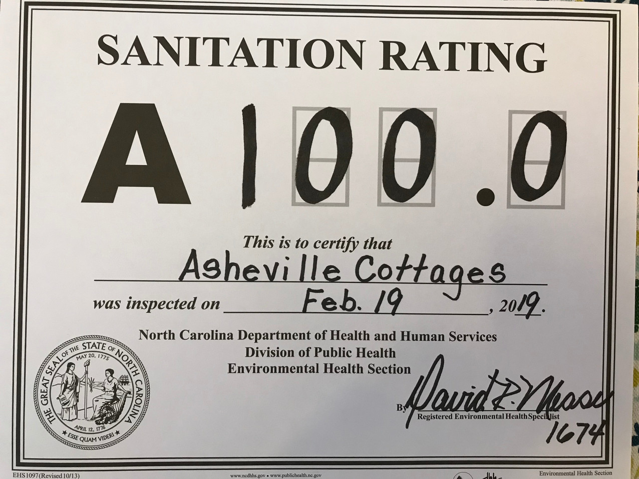 A perfect sanitation score