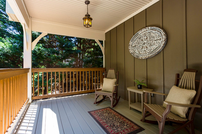 Two rocking chairs on the front porch