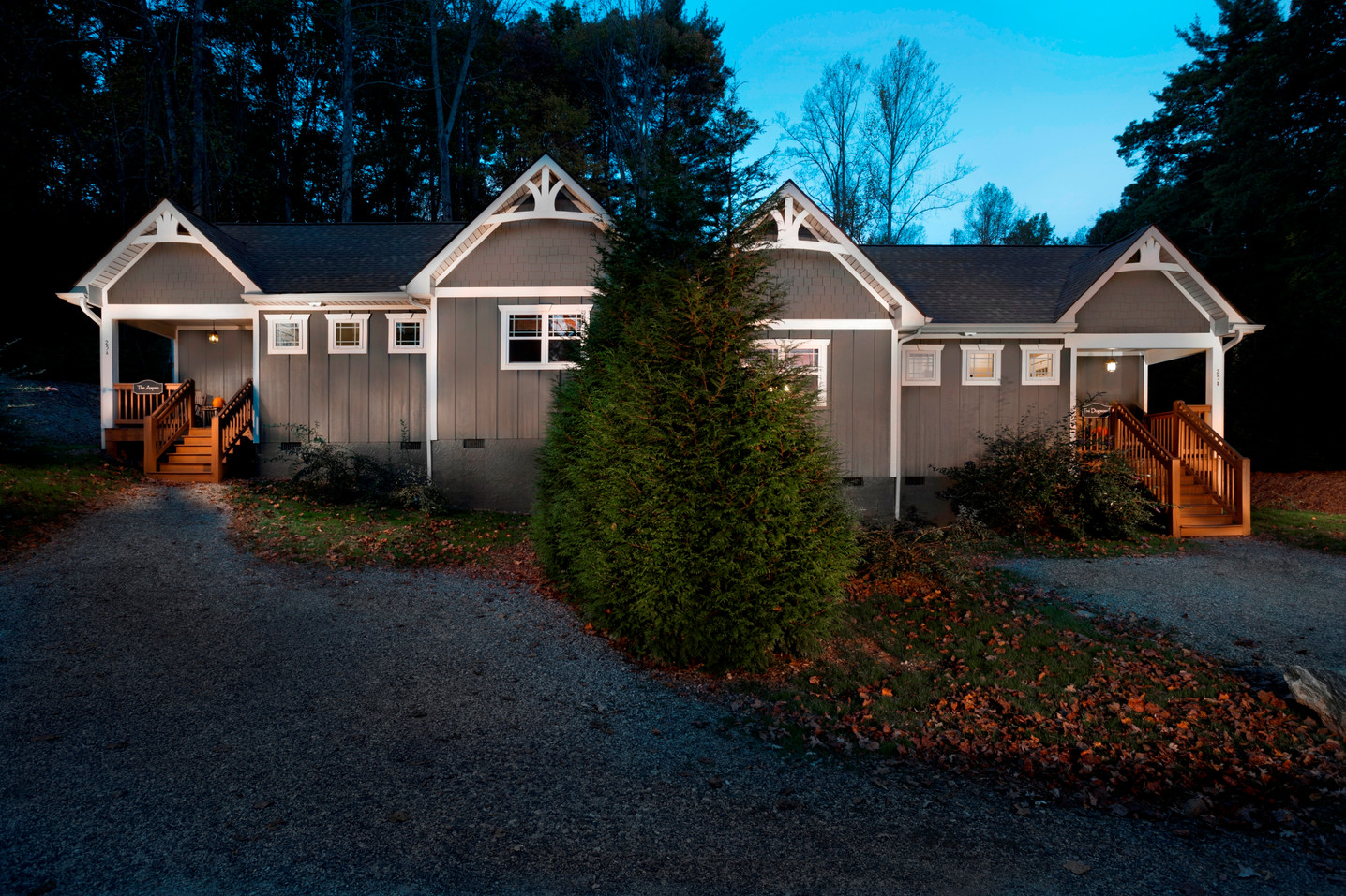 The Aspen and Dogwood cottages