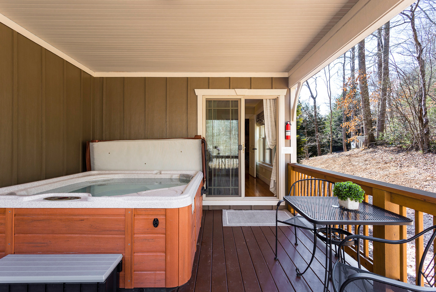 Hot tub and gas grill