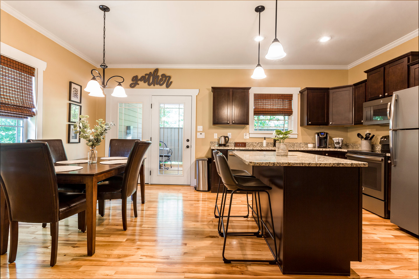Kitchen with luxury granite counter tops