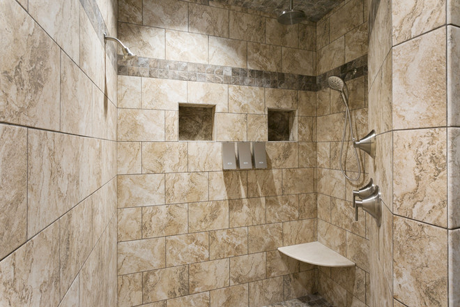 Vacation rental with tile, walk-in shower