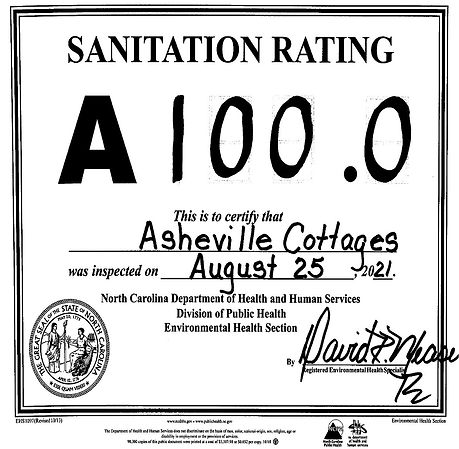 A perfect 100% inspection score