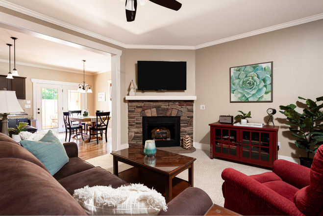 Large living area with a La-Z-Boy recliner