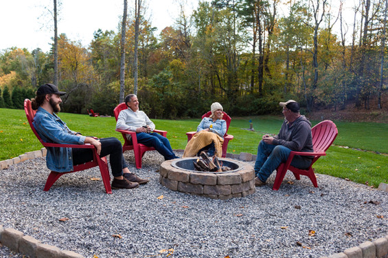 4 firepits at our vacation rentals