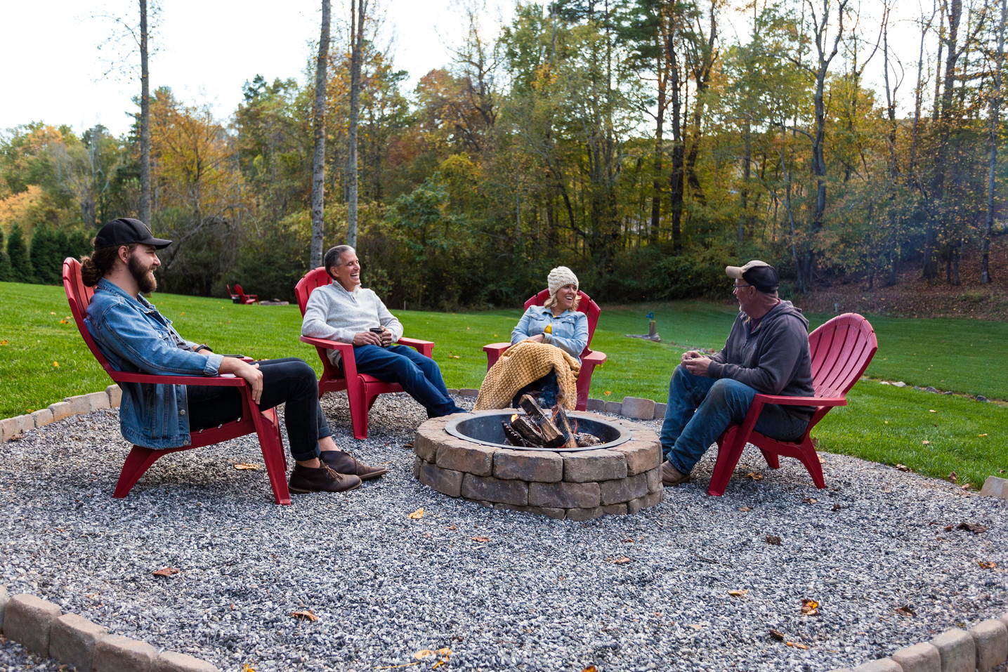 15 acres with a firepit